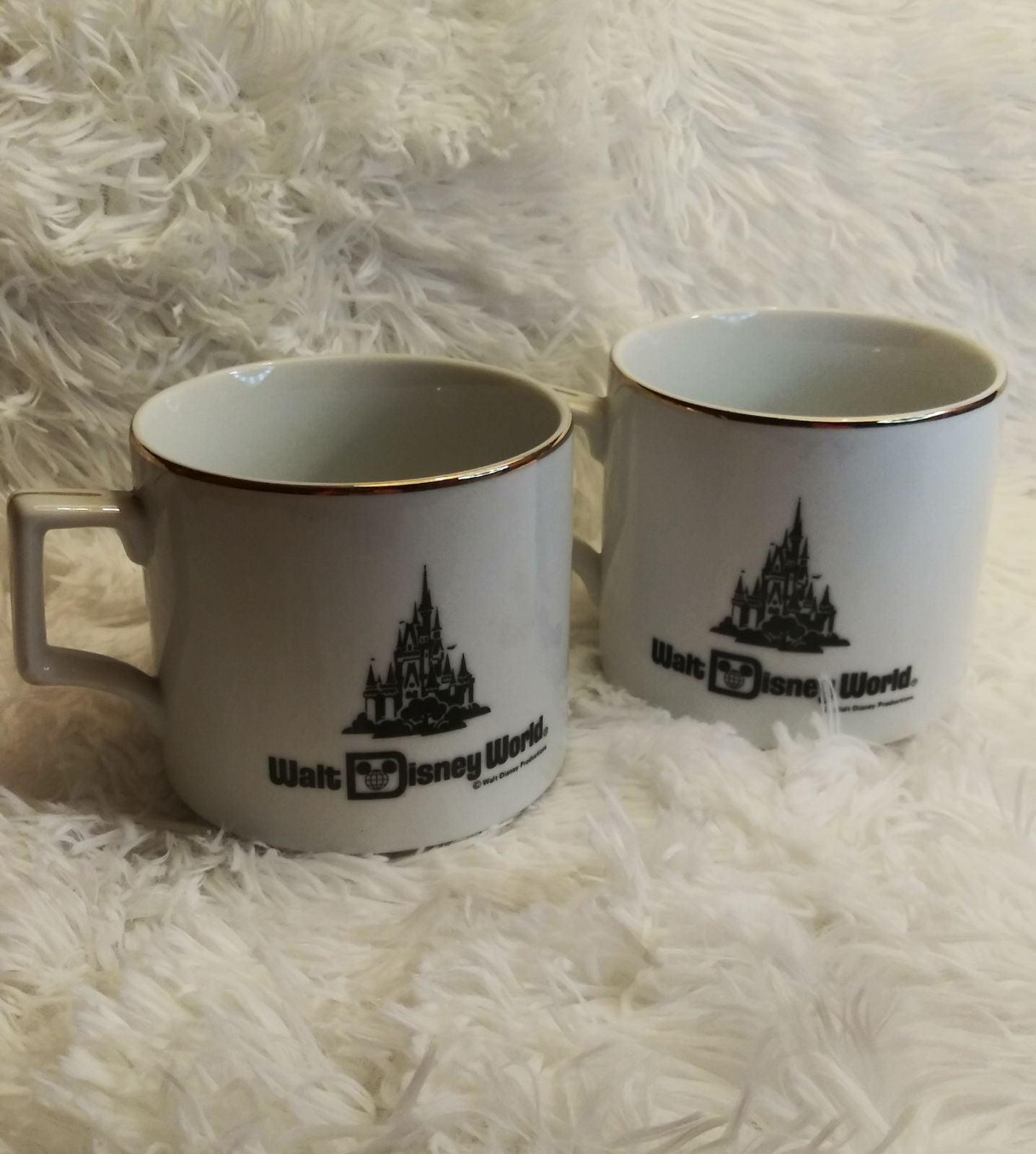 Walt Disney World Gold Trim coffee cup