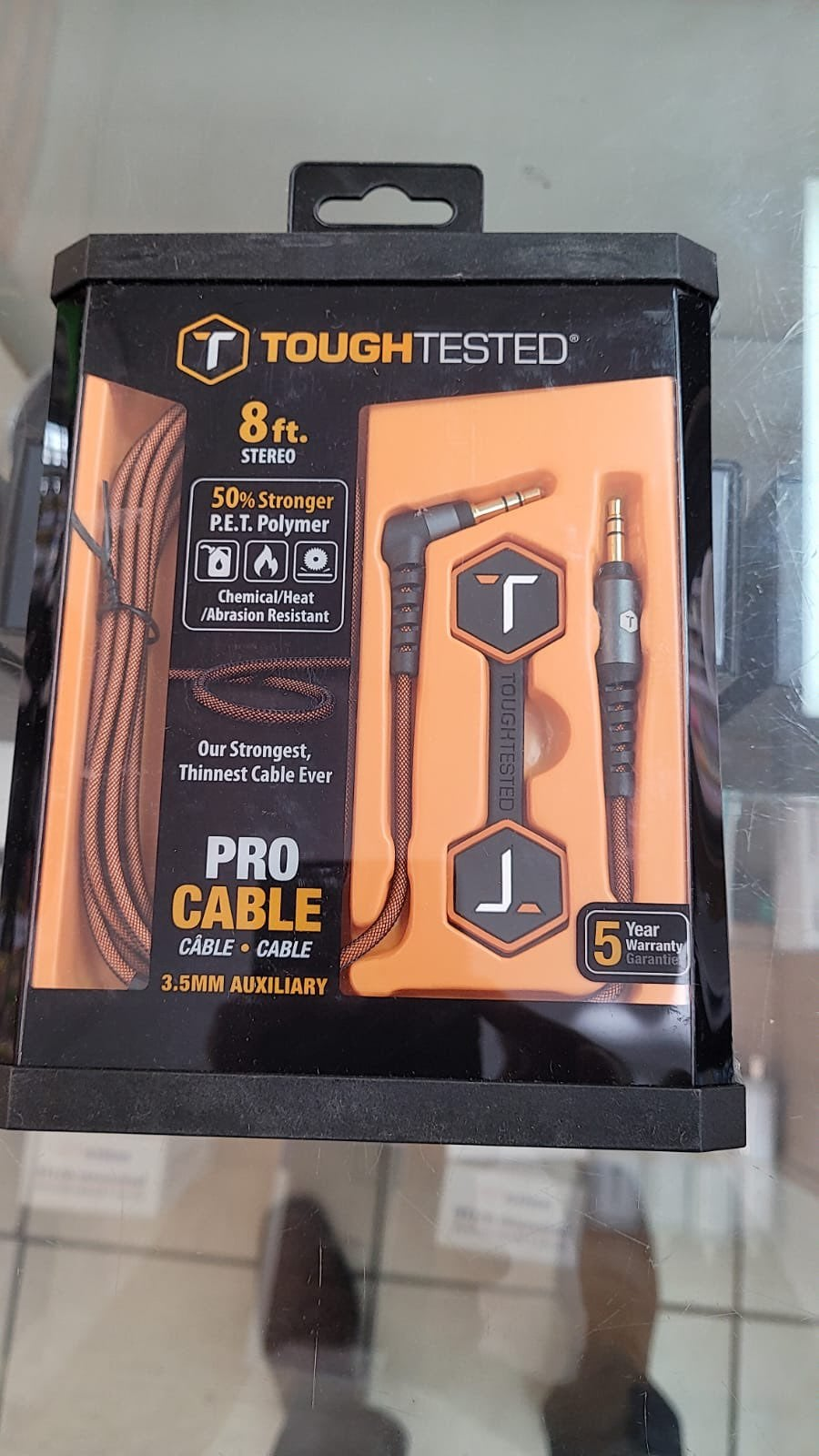 Toughtested 3.5mm Pro Aux Cable 8 Foot