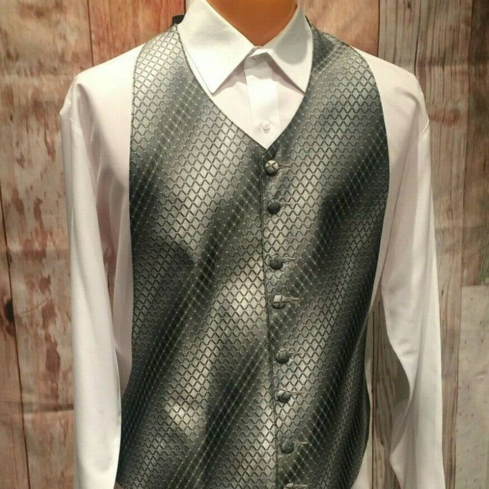 Silver Adjustable XL Tuxedo Vest