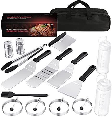 15 PCS Griddle Accessories Kit