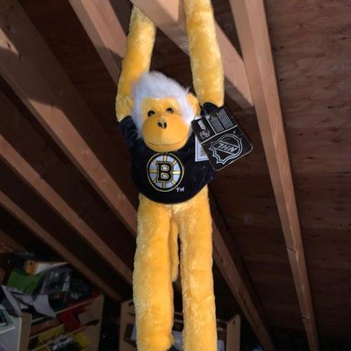 Vintage Bruins hanging monkey Plush