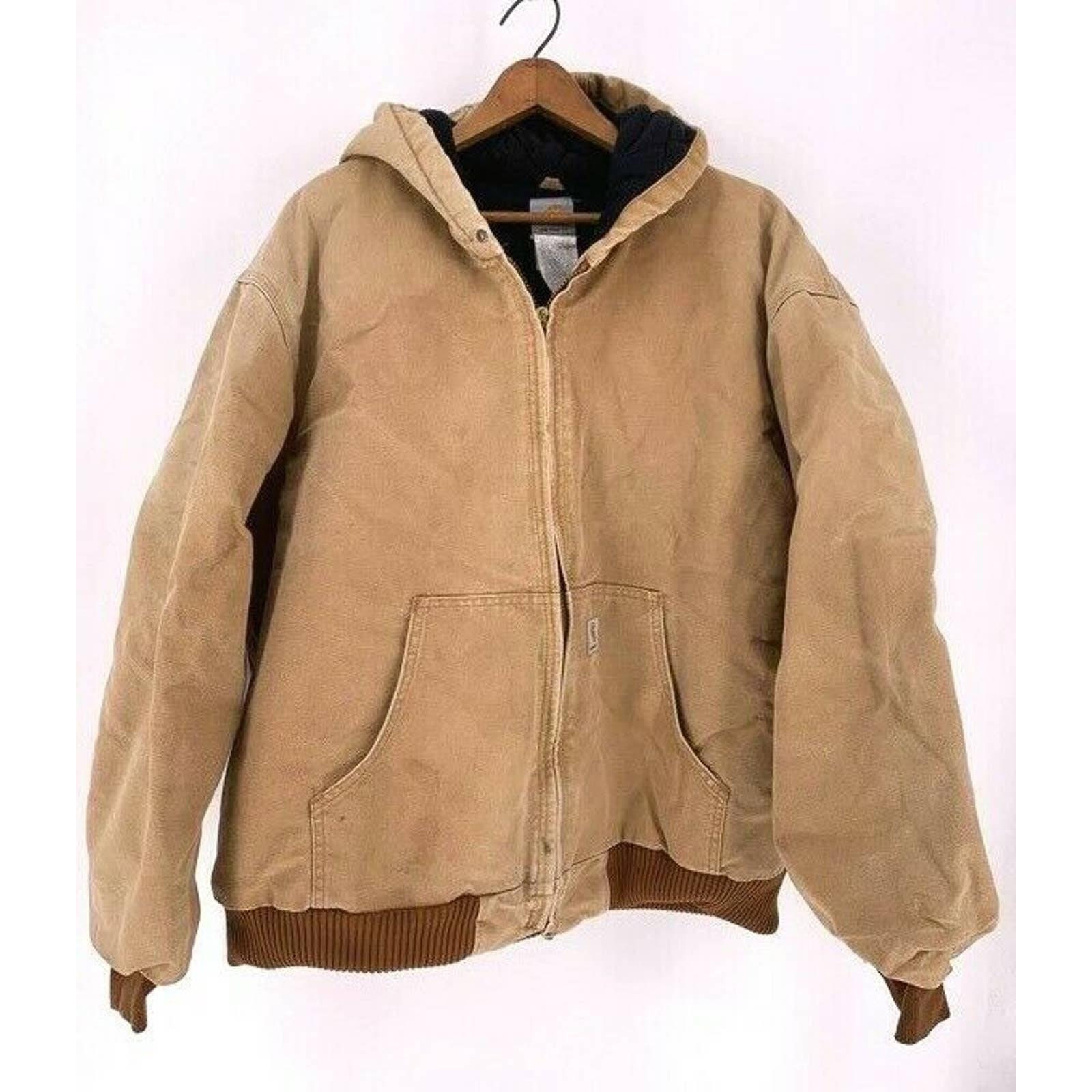 Vintage Carhartt Mens Jacket Brown 2XL