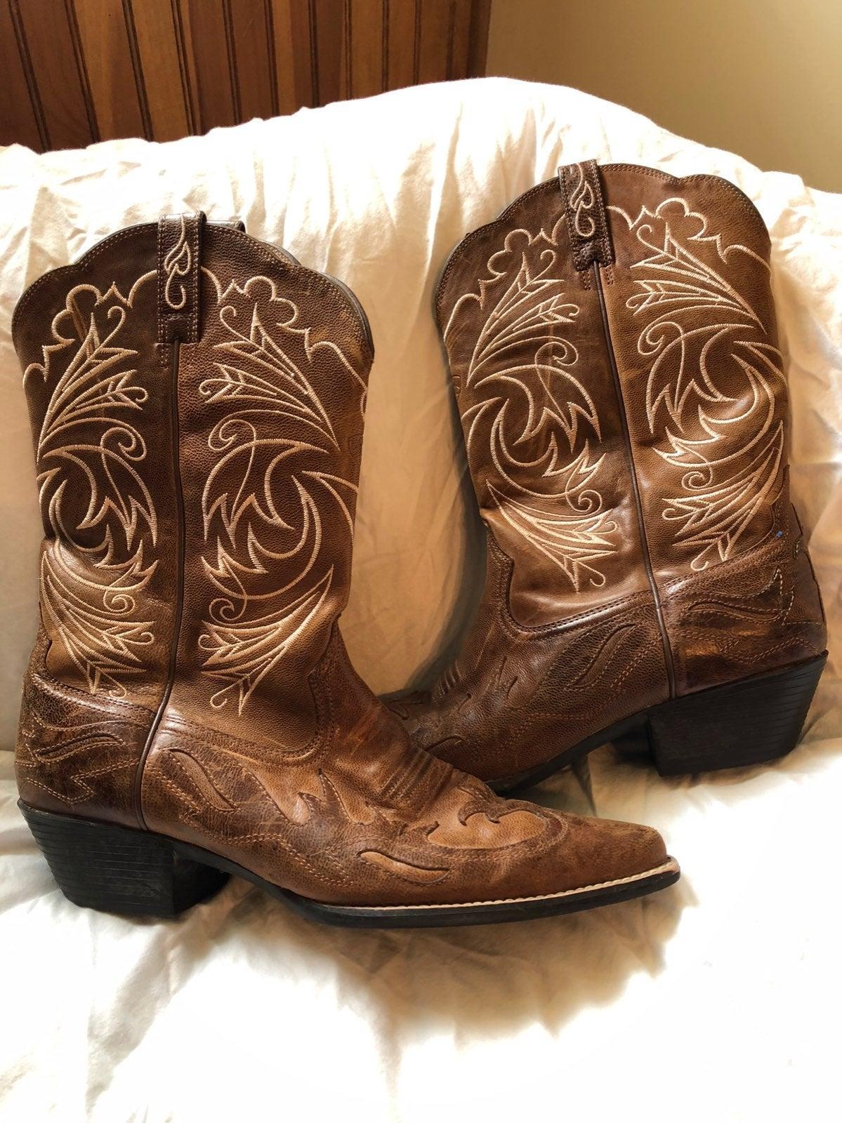 Ariat Womens Western J Toe Wingtip Boots