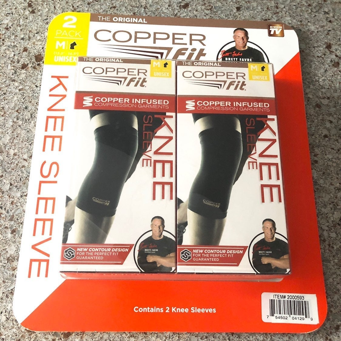 2 Pack Copper Fit Knee Sleeve