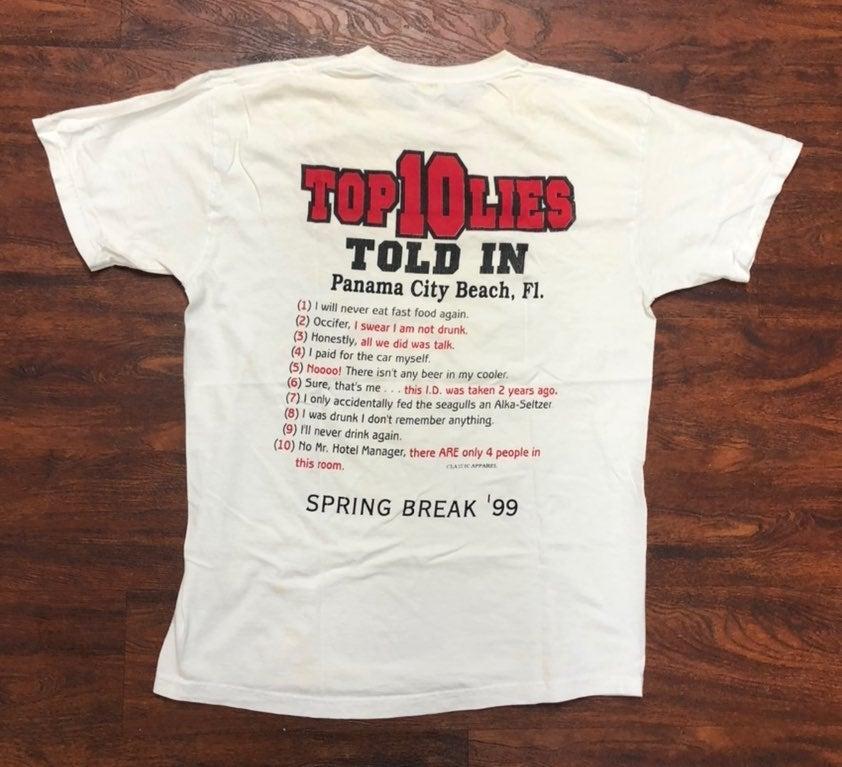 Vintage 90s spring break shirt L