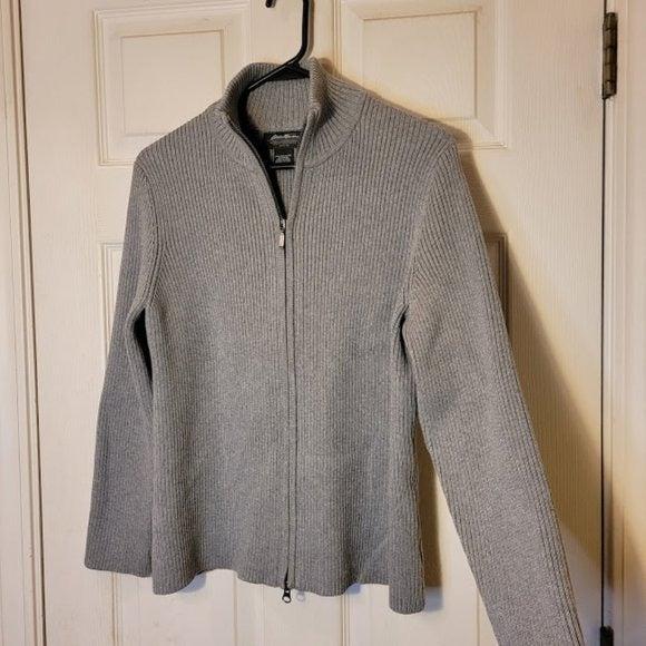 Eddie Bauer Petite Pima Cotton Zipper XL