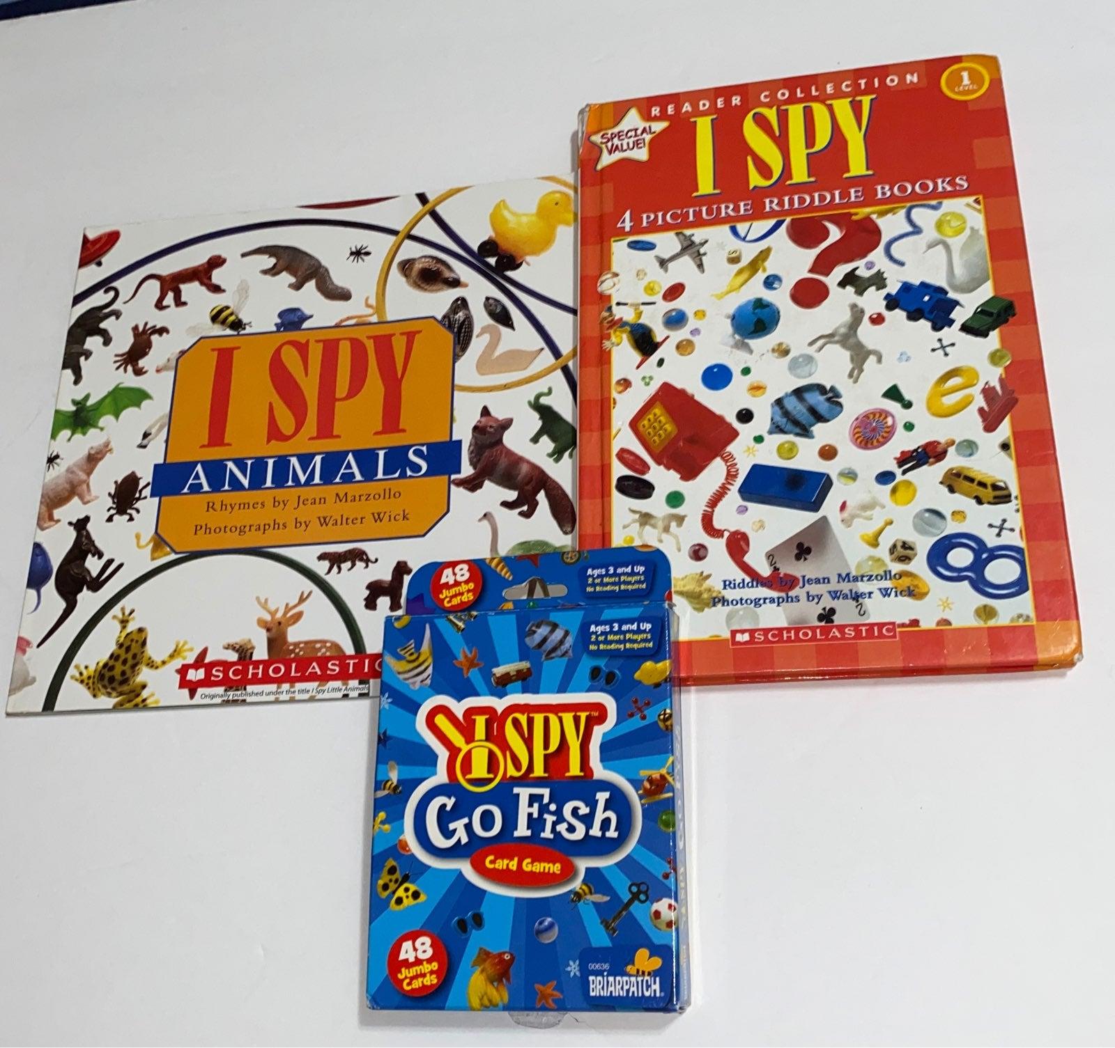 I Spy books and card game