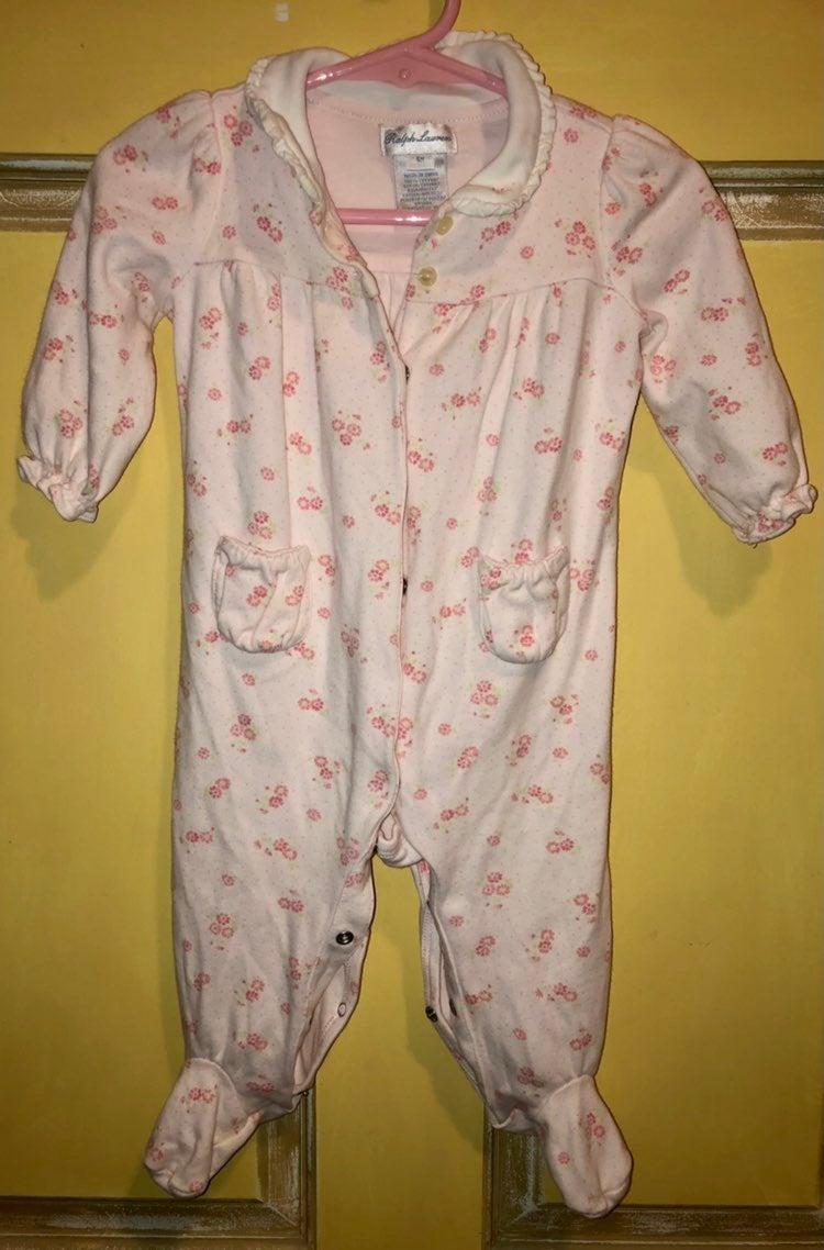 Ralph Lauren Pink Flower Baby Sleeper
