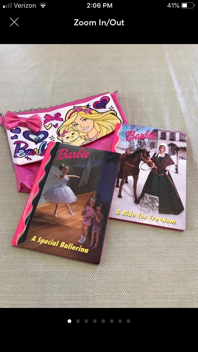 Barbie Reader Books And Purse