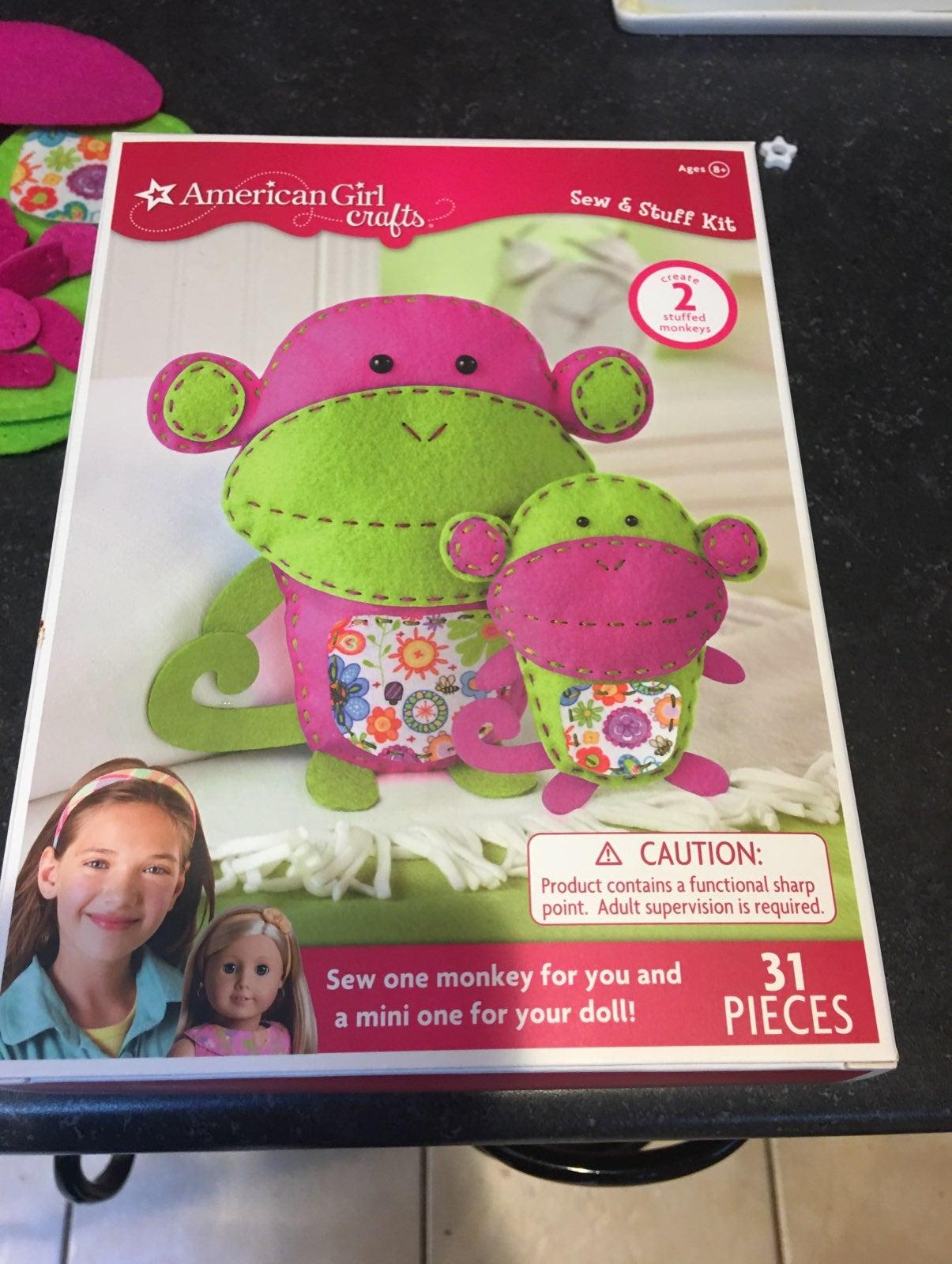 American Girl Crafts - 2 stuffed monkeys