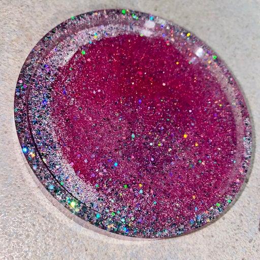 Pink Resin Coaster