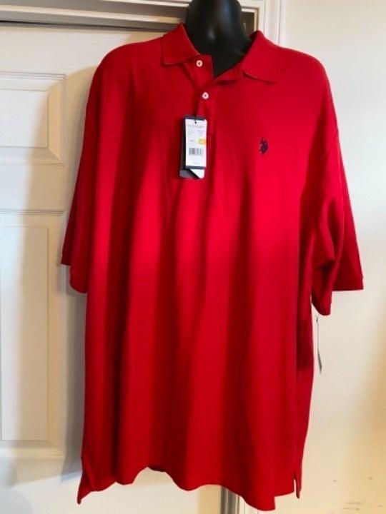 Men's US Polo Assn Shirt Sz 4XL NWT RED