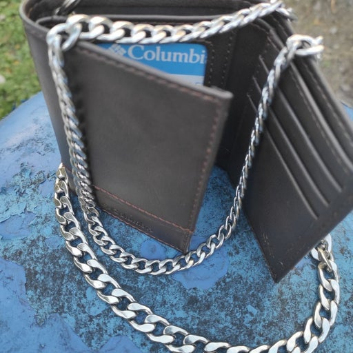 "Custom made Columbia chain wallet w 21"""