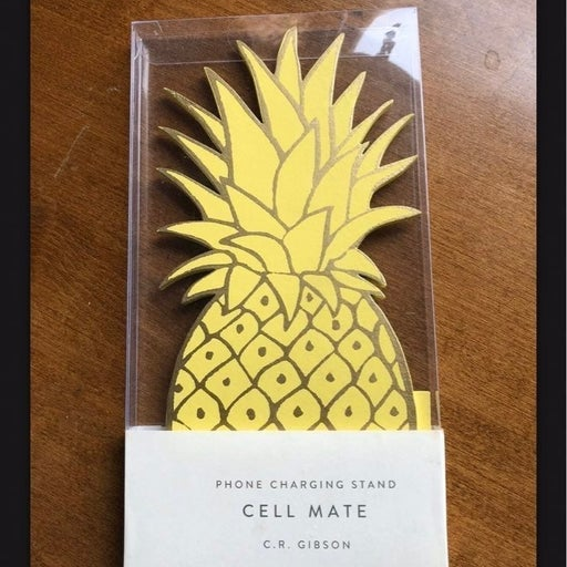 C.R. Gibson Pineapple Cell Phone Stand