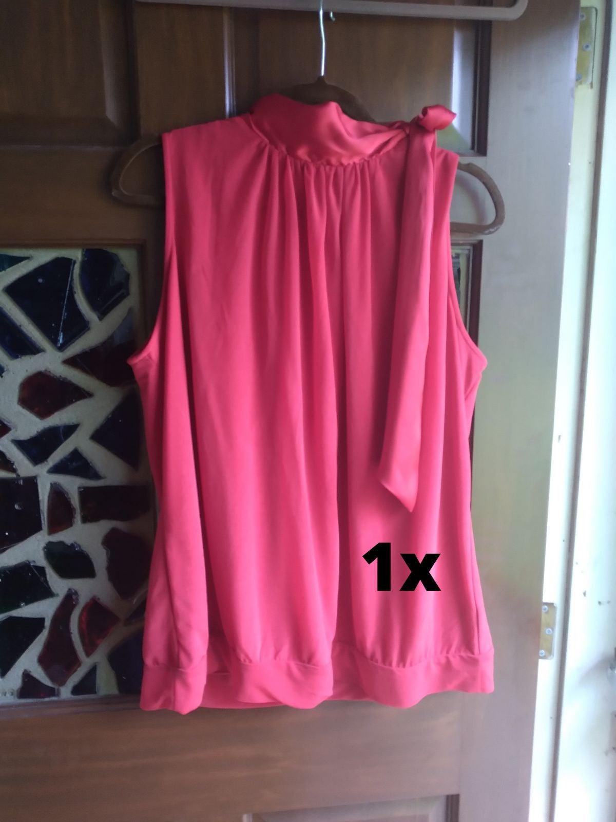 Cherry Red sleeveless blouse 1x