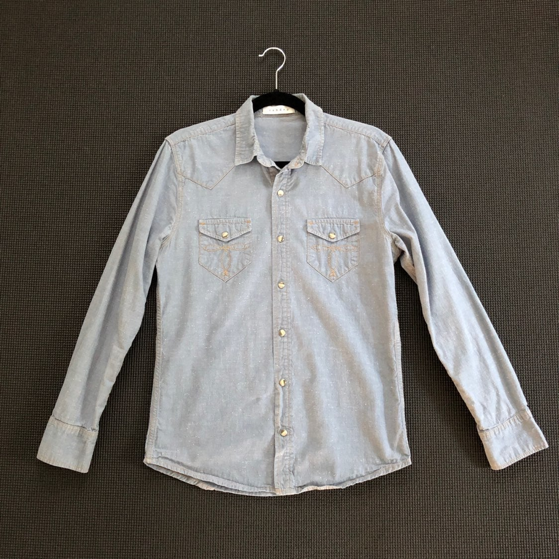 Sandro pearl snap button western shirt S