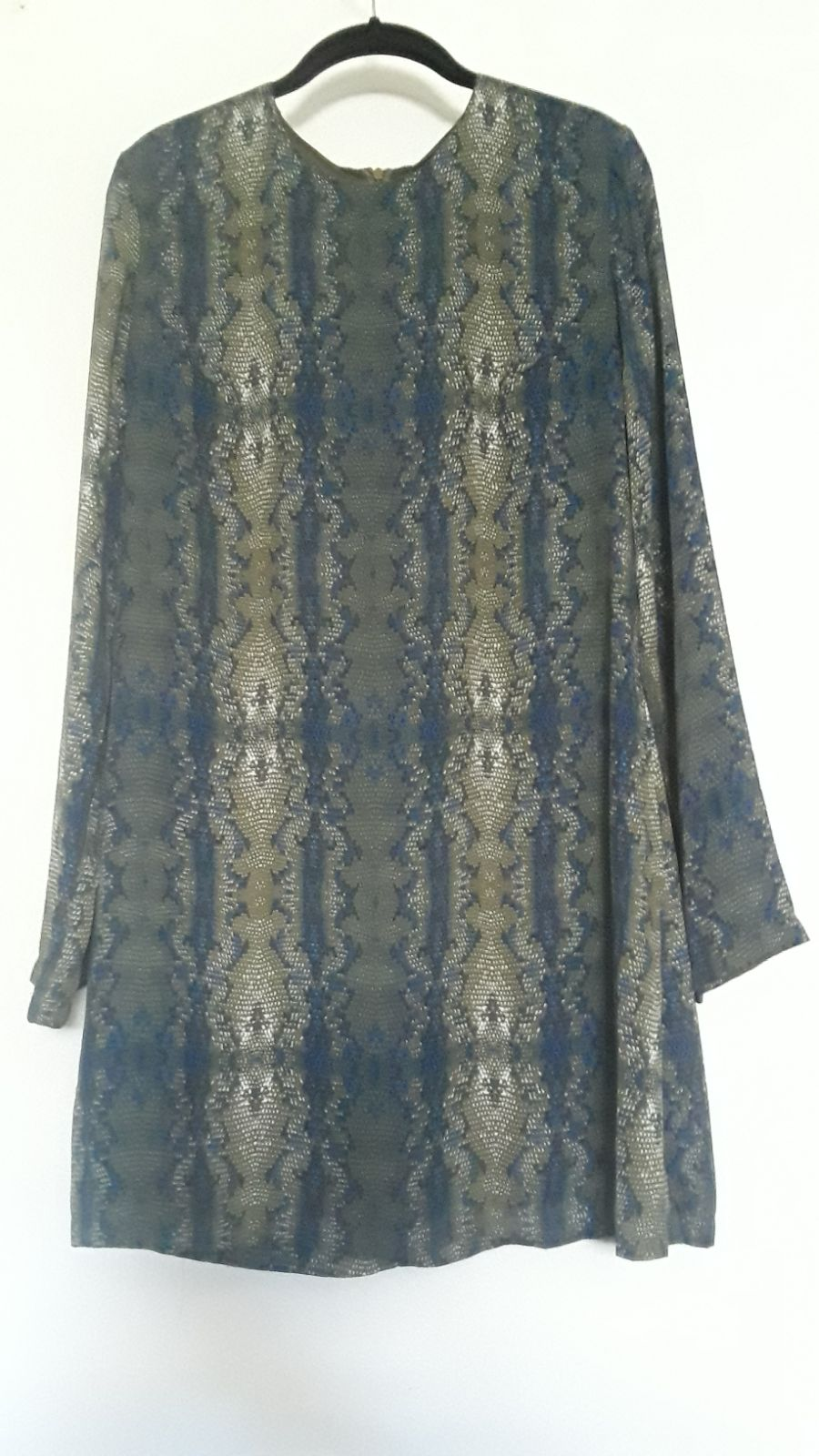Olivaceous Snakeskin Print Dress LARGE
