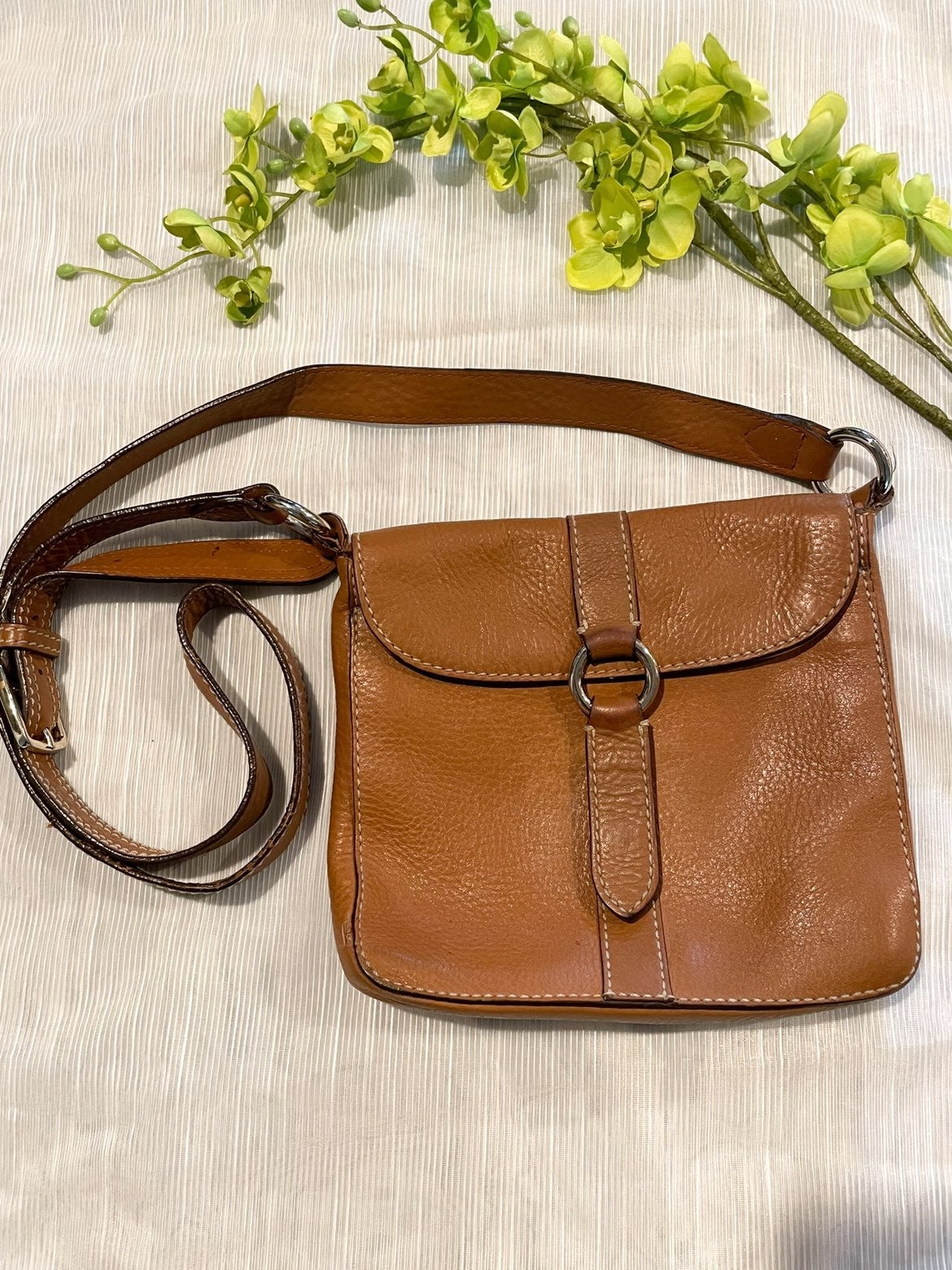 Cole Haan small brown leather crossbody
