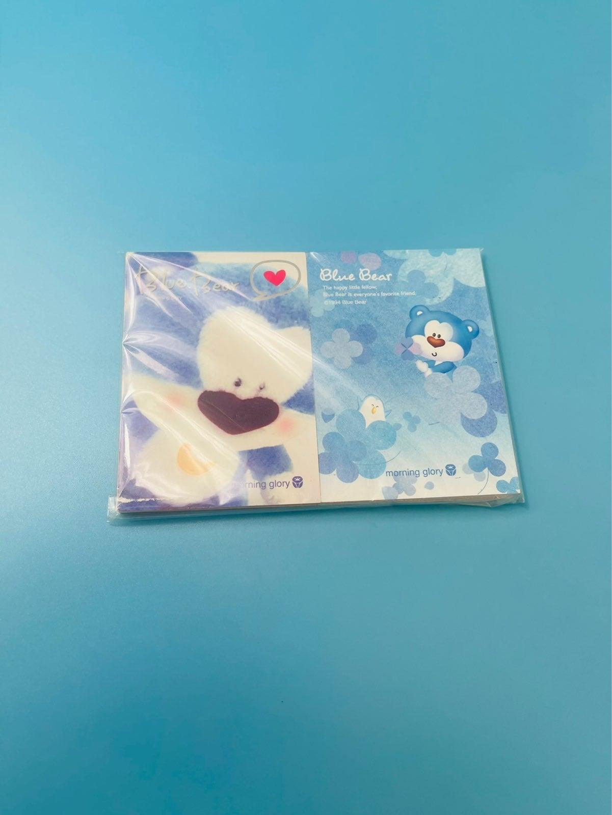 Vintage Blue bear memopad (2)