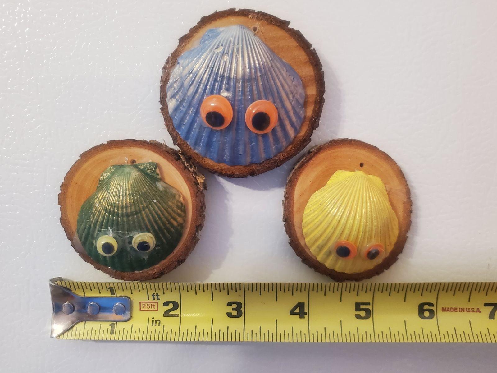 Seashell Family Refrigerator Magnets