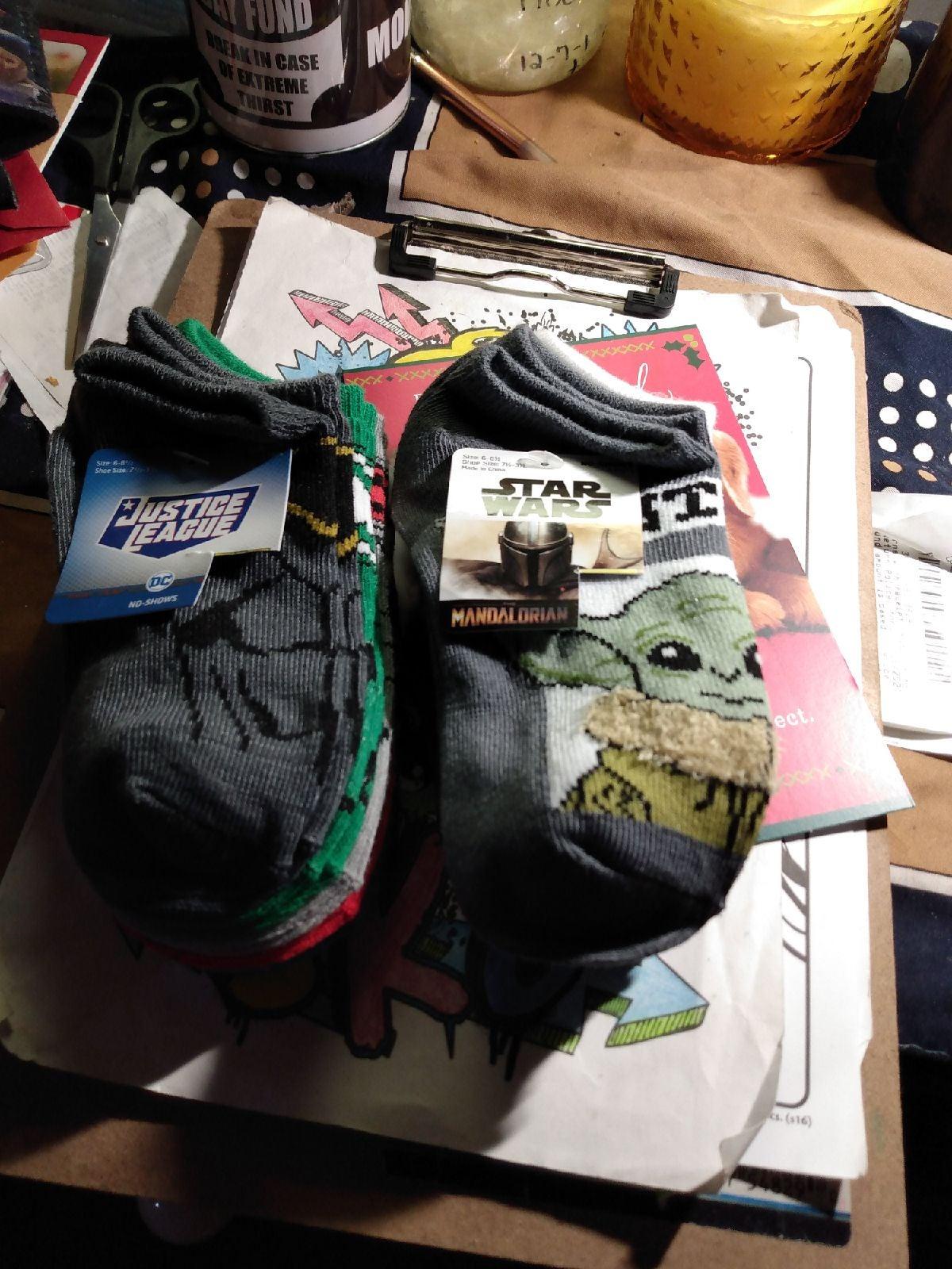 Boys DC & Star Wars No-show Socks Bundle