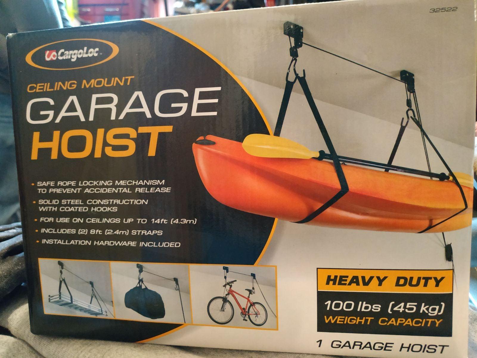 Ceiling mount garage hoist