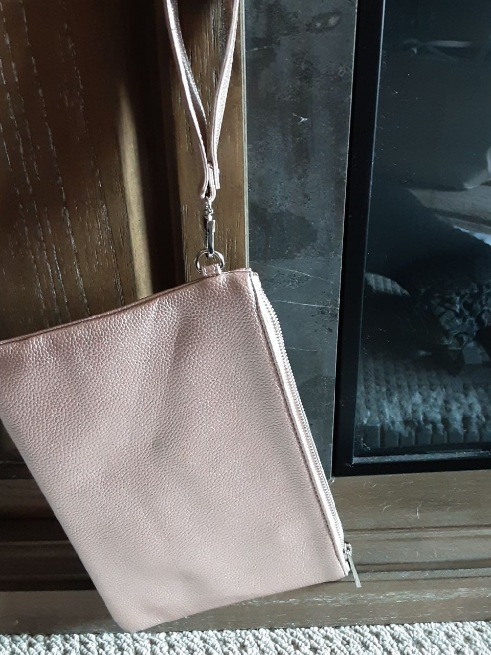 Rose gold satchel