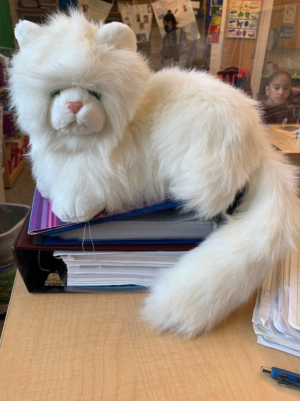 Vintage White Persian Nikki Cat Plush