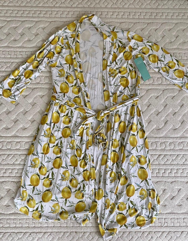 NWT Posh Peanut Lemon Robe XXL