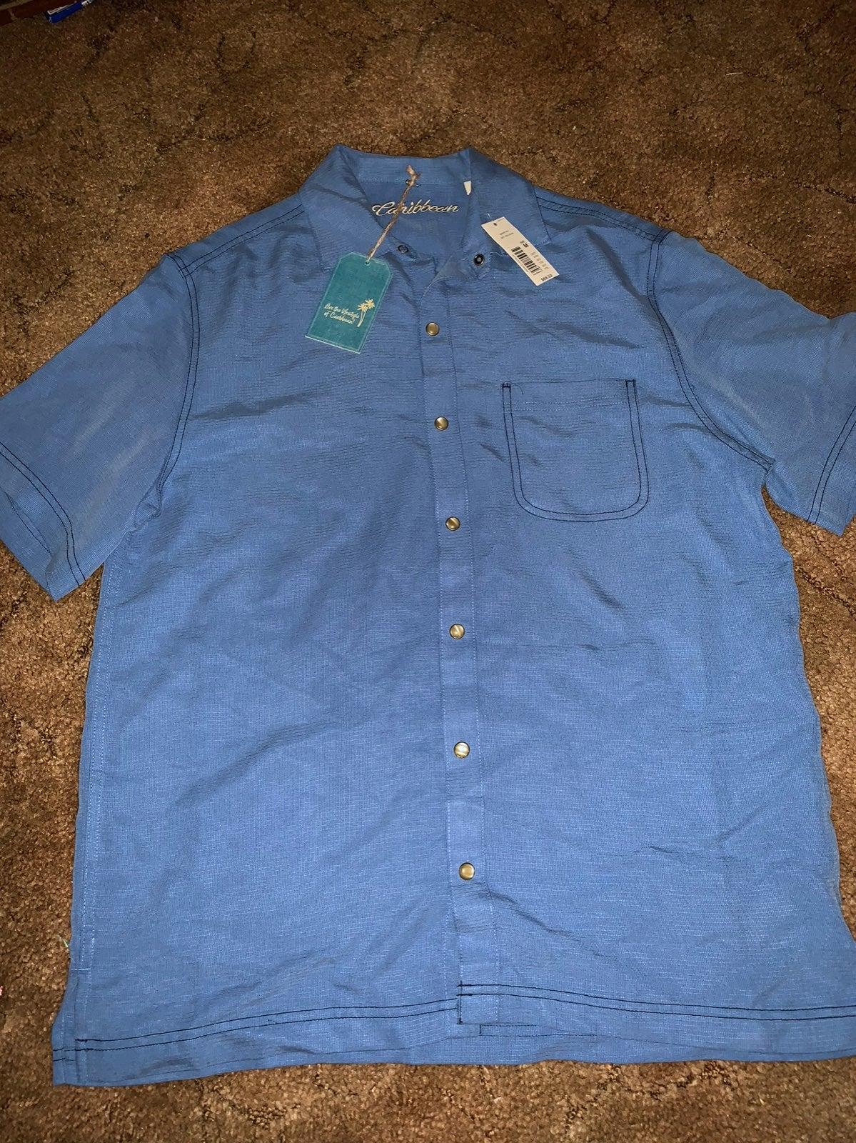 Mens Caribbean Button Down Shirt M