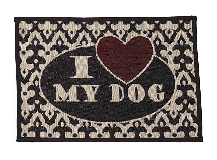 I love my dog tapestry mat