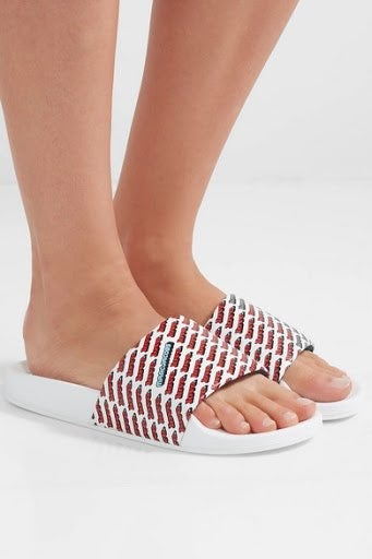 Marc Jacobs Love Printed Leather Slides