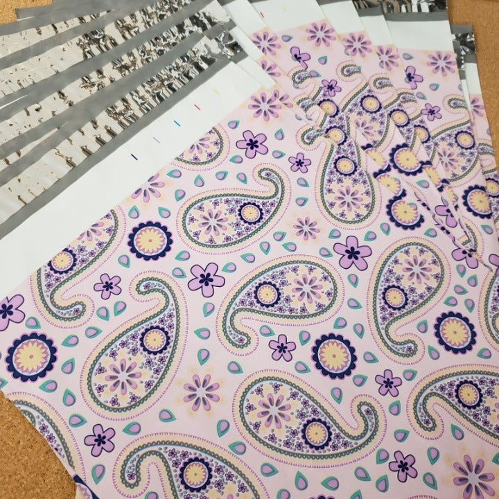 30ct paisley 10x13 poly mailer envelope
