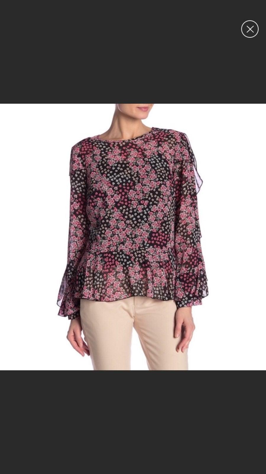 Nanette Lepore floral print top m