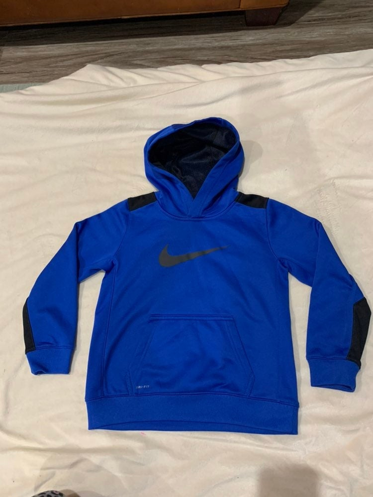 EUC Nike boys hoodie pullover blue