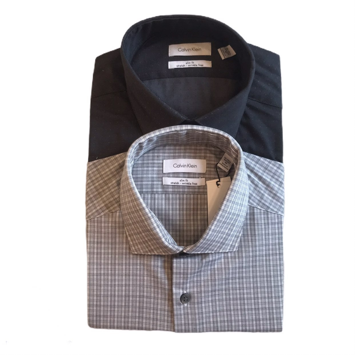 Calvin Klein Slim Fit 2 Pack Dress Shirt