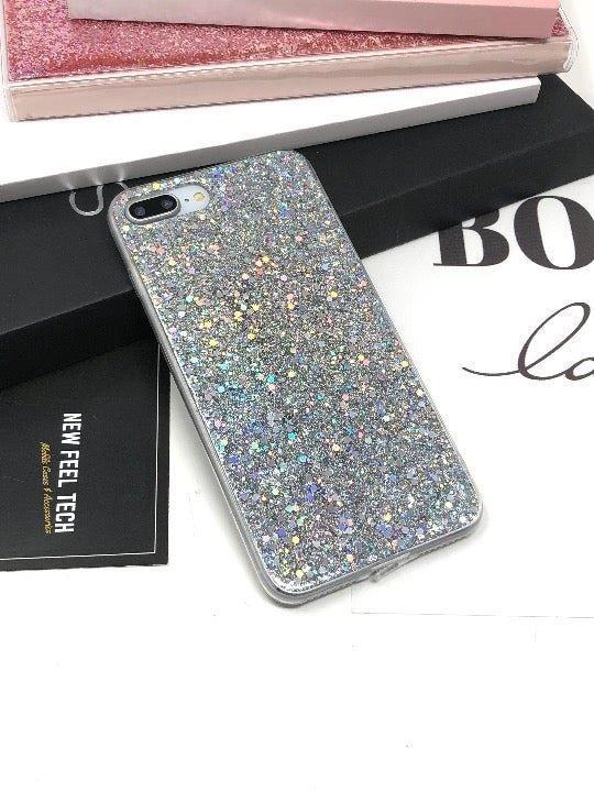 iPhone 7+/8+ Silver Glitter Case
