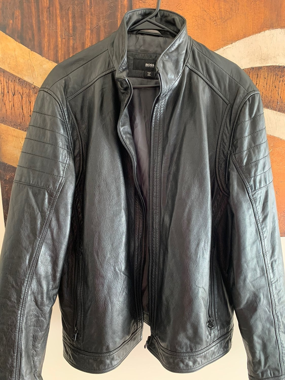 Hugo Boss Black Men's Leather Jacket