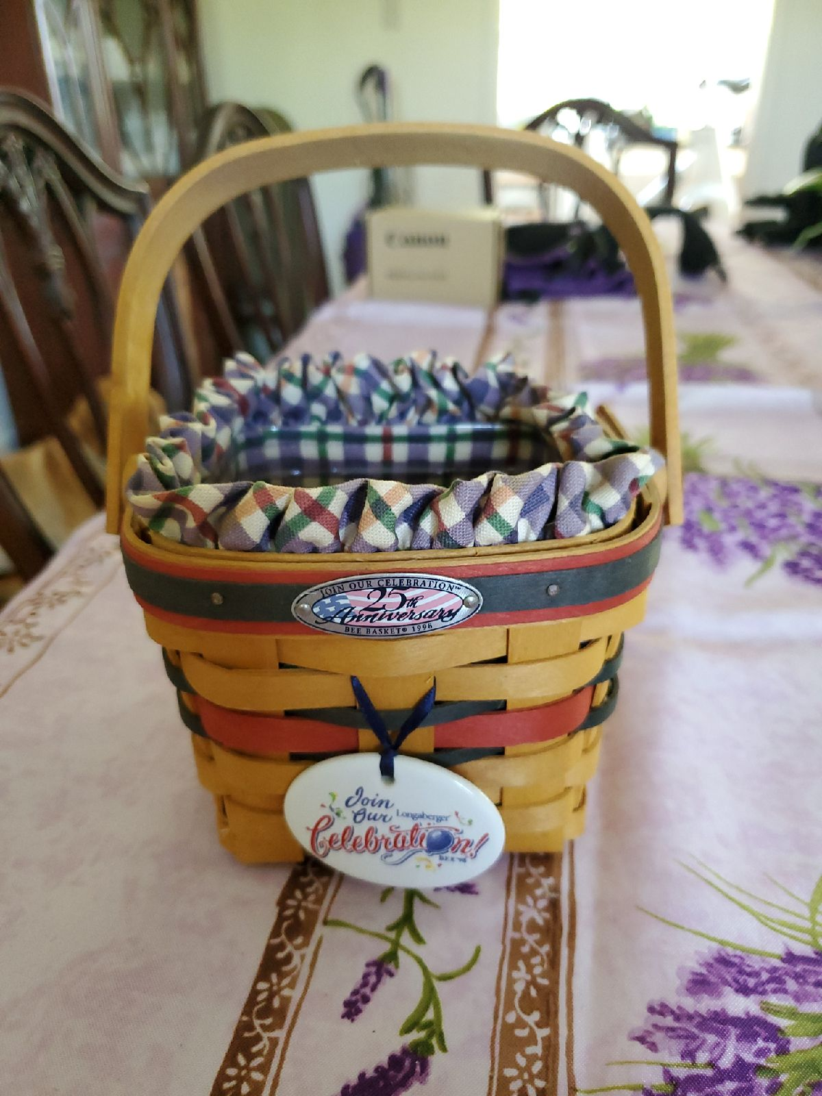 1998 25th Anniversary Bee Basket