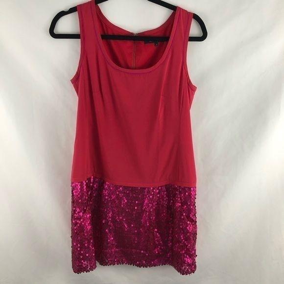 Nanette Lepore Pink Silk and Sequin Pocket Dress