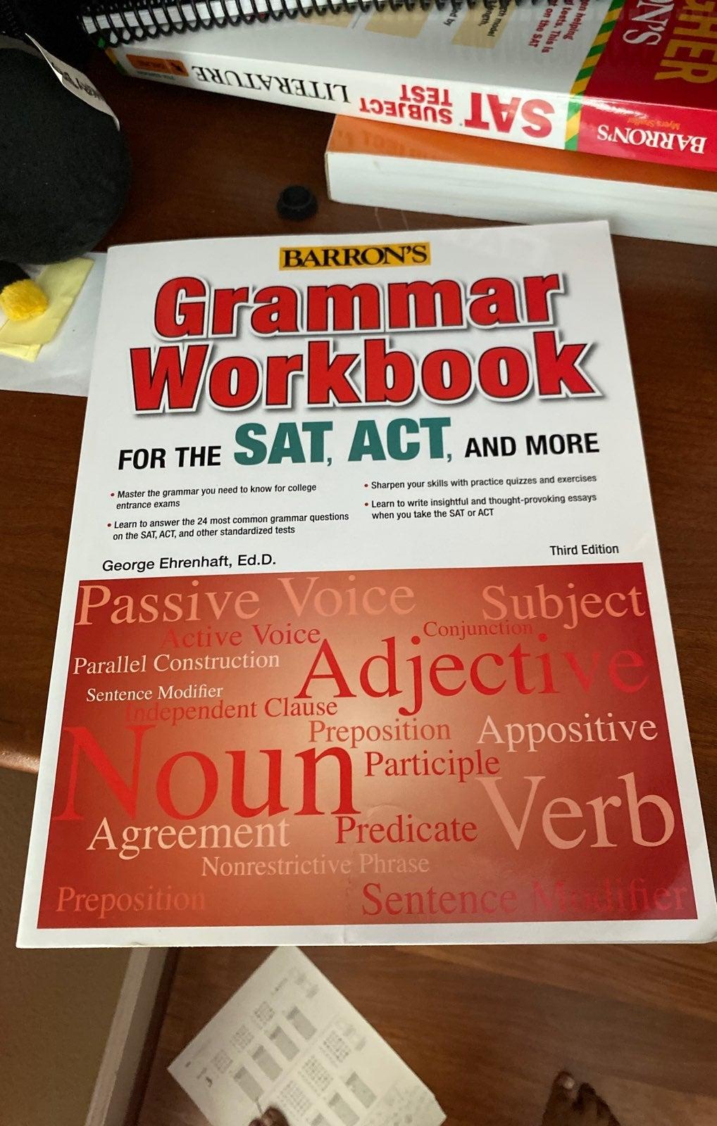 Barrons grammer workbook