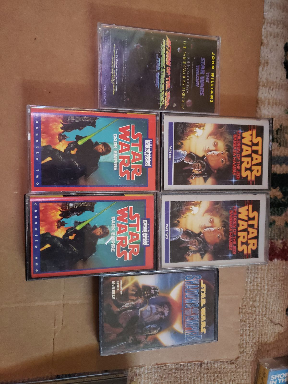6 star wars cassette tapes children of t