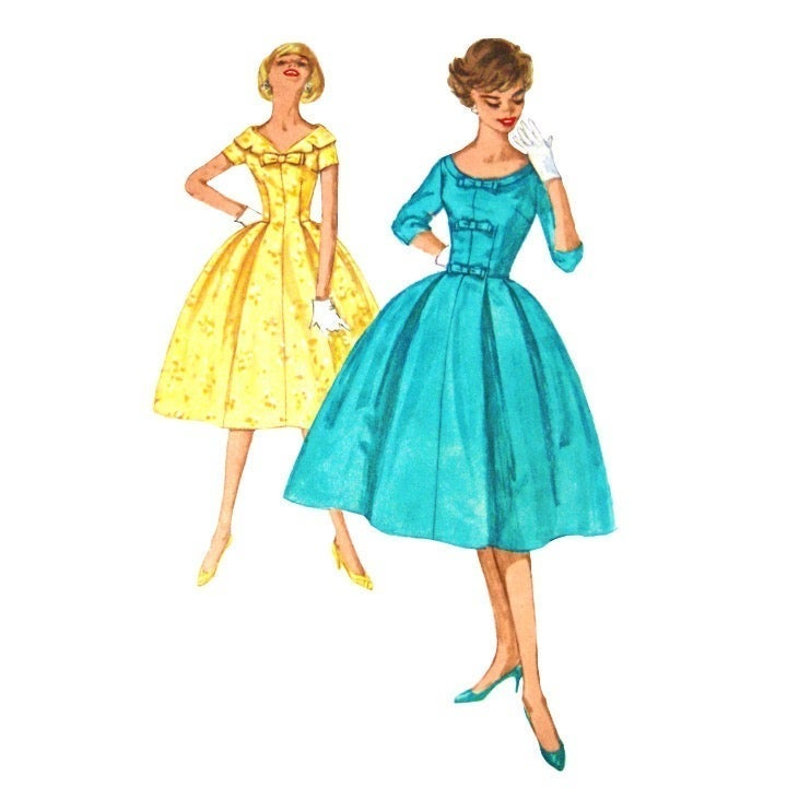 50s Simplicity 2763 Fit Flared Dress 13