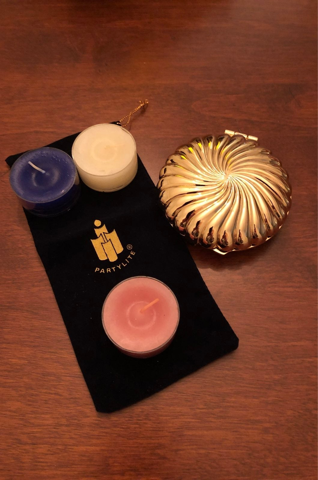 PARTYLITE TRAVEL CANDLE AND CASES