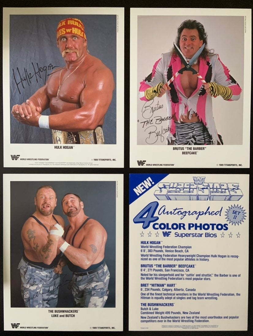 WWF Autographed promo photos set