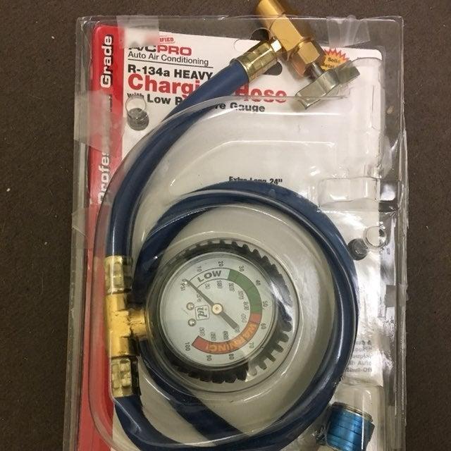 Heavy Duty Refrigerant  A/C hose W Gage