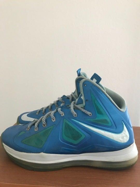 Nike LeBron 10 Blue Diamond Sneakers