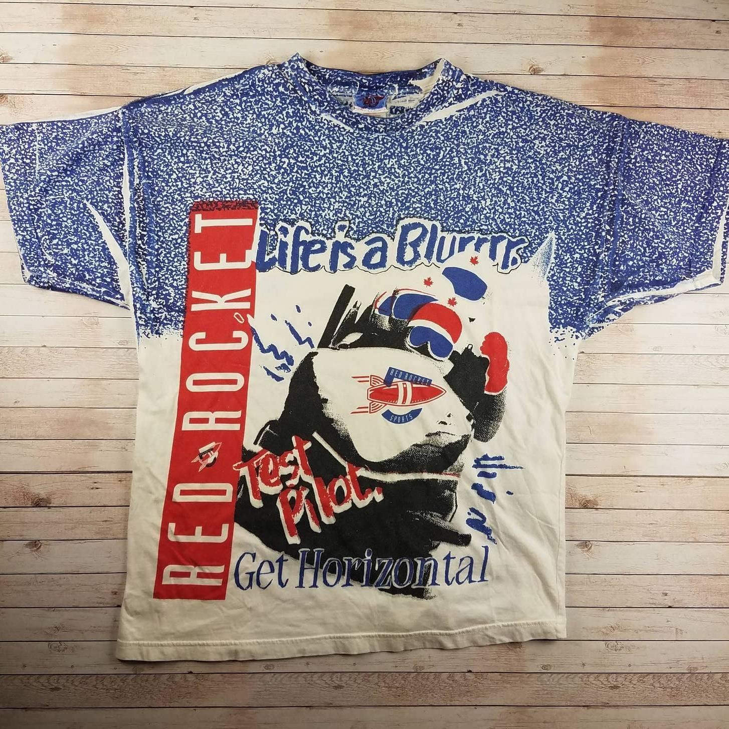 VTG 90s USA Olympic Bobsled AOP T-Shirt