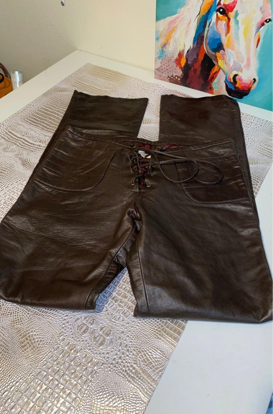 Vintage leather pants by John Cherpas