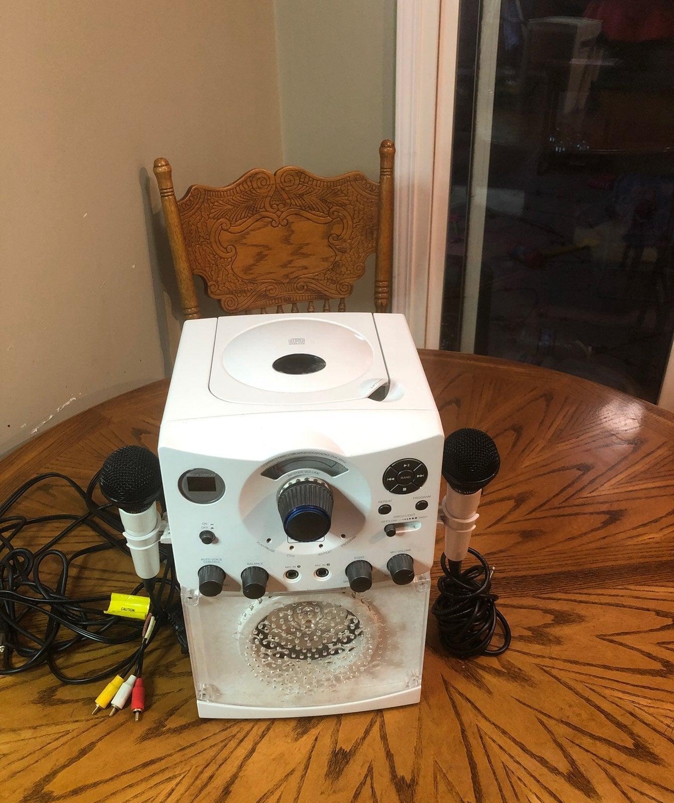 Karaoke machine white gently used